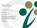 クラークAELC IELTS講師の資格証明書